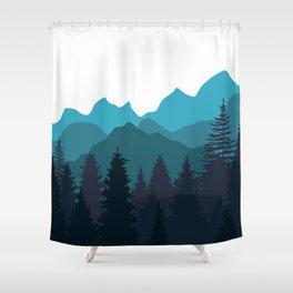 Blue Woods Shower Curtain