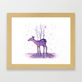 Rooted Deer Framed Art Print