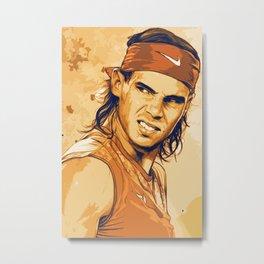 rf, roger federer, roger, federer, tennis, wimbledon, grass, tournament, ball, legend,  Illustration Metal Print