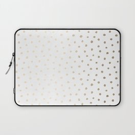 Golden Polka Dots Laptop Sleeve