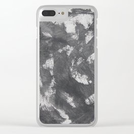 White Chalk and Black Ink Clear iPhone Case