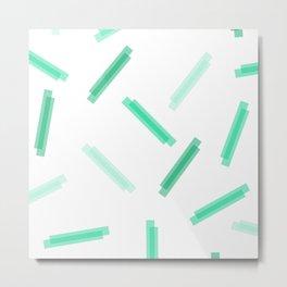 LINA ((the greens)) Metal Print