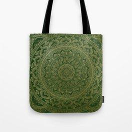 Mandala Royal - Green and Gold Tote Bag