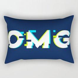 OMG (Glitch) Rectangular Pillow