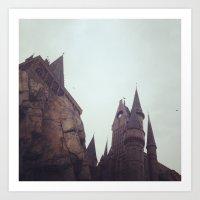 hogwarts Art Prints featuring Hogwarts by Beth Ann Short