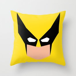 Wolverin e superhero Throw Pillow