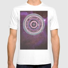 Galactica MEDIUM White Mens Fitted Tee