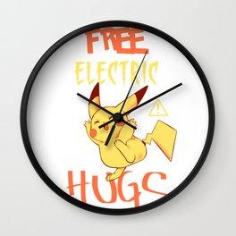 Free electric hugs Wall Clock