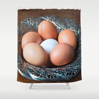 easter Shower Curtains featuring HAPPY EASTER by CAPTAINSILVA