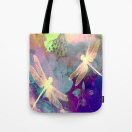 Painting Dragonflies and Orchids A Tote Bag