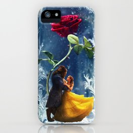 Beauty and the Beast-Rose iPhone Case