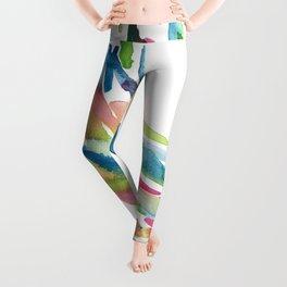 Watercolour Swirls Abstract Artwork Leggings