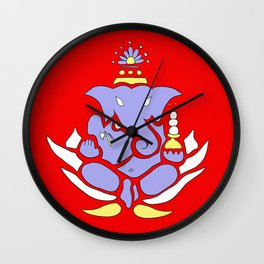 Ganesh: Overcome Your Obstacles Wall Clock