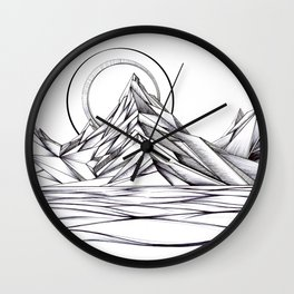'Crystal Mountain Peaks' Wall Clock