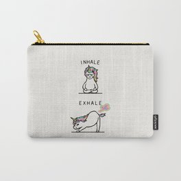 Inhale Exhale Unicorn Carry-All Pouch