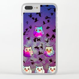 owl-444 Clear iPhone Case