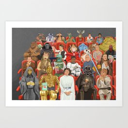 Strarwars at the movies Art Print