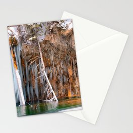 A spring that knows no summer  - Hanging Lake print  by Lena Owens Stationery Cards