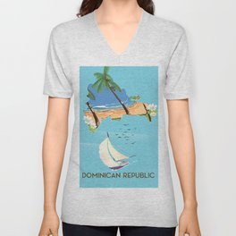 Dominican Republic Unisex V-Neck
