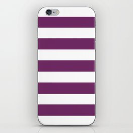 Byzantium - solid color - white stripes pattern iPhone Skin