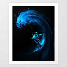 Space Surfing Art Print