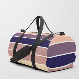 Mauve Stripes Duffle Bag