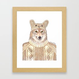 Wolf in Sheep Clothing Framed Art Print