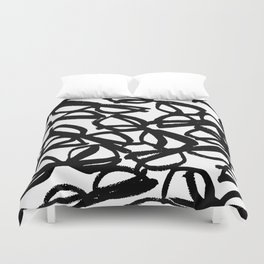 Black Eyeglasses Duvet Cover