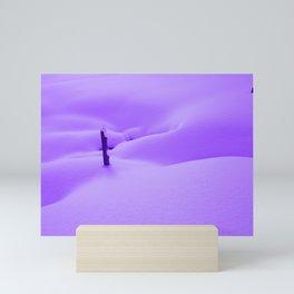 Purple Snow Mini Art Print