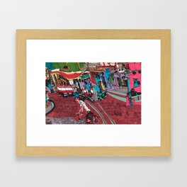 Street Car in Hanoi Framed Art Print