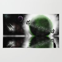 planets Area & Throw Rugs featuring Planets by DebbieHughes