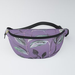 Silky Lavender Greenery Leaves Fanny Pack