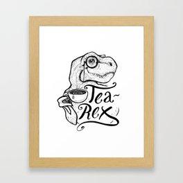 Tea-Rex Framed Art Print