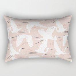 Soaring Wings - Blush Pink Rectangular Pillow