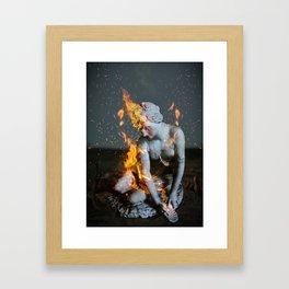 Coeur brisé Framed Art Print