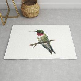 Ruby Throated Hummingbird Rug