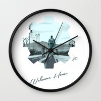 fallout Wall Clocks featuring Fallout 4 by jorgeink