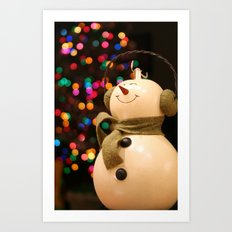 Christmas Makes Me Smile Art Print