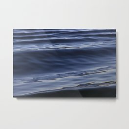 Smooth Waves Metal Print