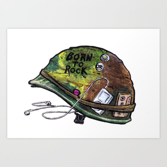 """Born to Rock"" by Cap Blackard Art Print"