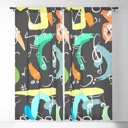 Music notes Blackout Curtain