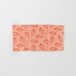Climbing Leaves In Two Tone Living Coral Hand & Bath Towel