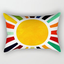 Sun Retro Art Rectangular Pillow