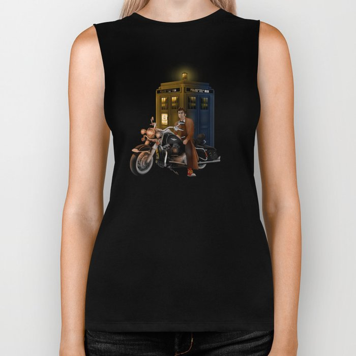 10th Doctor who with Big Motorcycle Biker Tank