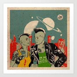 Alien Punks Art Print