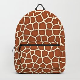 Wild Animal Print, Giraffe in Shades of Copper Brown Backpack