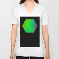 hexagon V-neck T-shirts featuring Hexagon? by FMC!