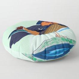 Mandarin Duck Floor Pillow