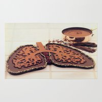 chocolate Area & Throw Rugs featuring Chocolate by Richard McGee