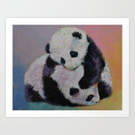 Baby Panda Rumble Art Print